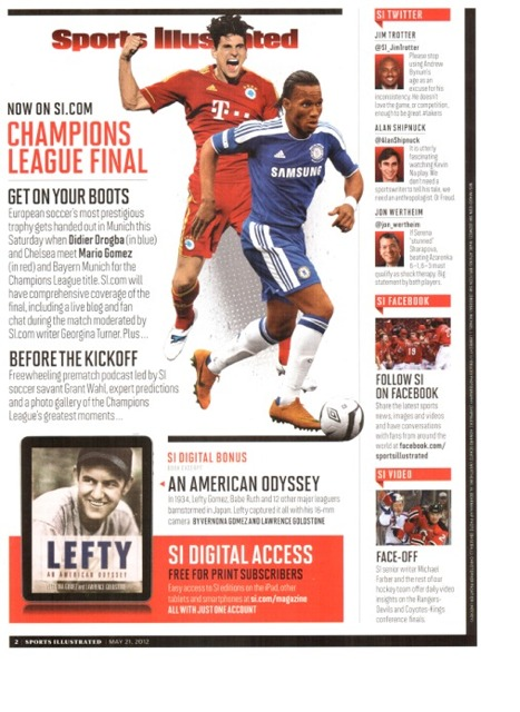 LEFTY: Sports Illustrated Digital Bonus
